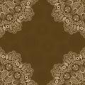 Fondo abstracto del color de brown uno con lacy corner Fotos de archivo libres de regalías