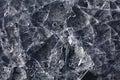Fondo agrietado de la textura del hielo natural Foto de archivo libre de regalías