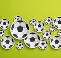 Fondo astratto di calcio Immagini Stock