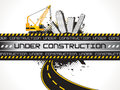 Fondo astratto di underconstruction Fotografie Stock