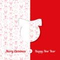 Fondo con el modelo del símbolo de la navidad plantillas de la tarjeta de felicitación de la navidad y del año nuevo bola Imágenes de archivo libres de regalías