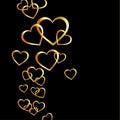 Fondo con los corazones de oro Fotos de archivo libres de regalías