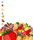 Fondo de la fruta de la energía para su diseño Imagen de archivo