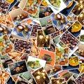 Fondo de las fotos del alimento Fotos de archivo libres de regalías
