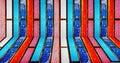Fondo de madera de la textura del color Imágenes de archivo libres de regalías