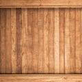 Fondo de madera grande de la textura de la pared del tablón de brown Fotografía de archivo