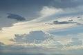 Fondo del cielo en puesta del sol Imágenes de archivo libres de regalías