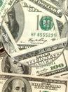 Fondo del dinero a partir de ciento dólares Fotografía de archivo libre de regalías