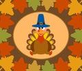 Fondo di giorno di autumn thanksgiving con il tacchino Fotografia Stock Libera da Diritti