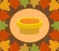 Fondo di giorno di autumn thanksgiving con la torta Immagine Stock Libera da Diritti