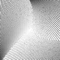 Fondo monocromático de la ilusión del triángulo del diseño Imagen de archivo