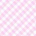 Fondo rosa chiaro del tessuto del plaid Fotografia Stock