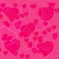 Fondo rosado del día de tarjeta del día de san valentín con los corazones Imagen de archivo libre de regalías