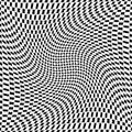 Fondo trellised ilusión monocromática del diseño Imagenes de archivo