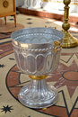 Font for a baptism. Orthodox church Royalty Free Stock Photo