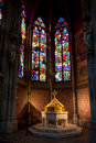 Font Baptistery , Votive church, Vienna, Austria Royalty Free Stock Photo