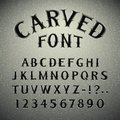 Font carved in stone the eps file each element is grouped separately clipping paths included additional jpg format Stock Images