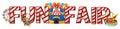 Font design for word fun fair Royalty Free Stock Photo