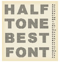 Font with effect halftone this is file of eps format Royalty Free Stock Images