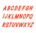 Font handwritten brush .Vector illustration.