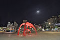 the font of jR railway Hakodate station at night
