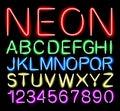 Font neon light