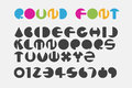 Font set using circle shape to create round letters. Royalty Free Stock Photo