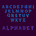 Font space alphabet typeface script with minimal design typographic modern graphic vector illustration.