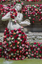 Fontaine des jacobins during festival of roses lyon france june the world mondial takes place in lyon from may to october places Royalty Free Stock Photography