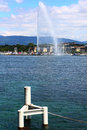 Fontaine du lac léman Photos libres de droits