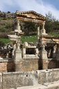 Fontaine Ephesus de Traian Photo stock