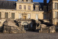 Fontainebleau castle seine et marne ile de france france Royalty Free Stock Images