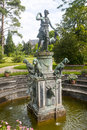 Fontainebleau, garden in the castle, fountain Stock Photography