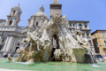 Fontana dei quattro fiumi piazza navona in rome is a popular destination the rd most visited city Stock Images