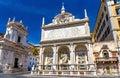 Fontana dell acqua felice in rome view of italy Royalty Free Stock Photo