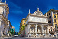 Fontana dell acqua felice in rome view of italy Royalty Free Stock Photography