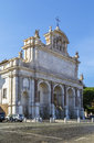 Fontana dell acqua paola rome the the big fountain is a monumental fountain located on the janiculum hill near the church of san Royalty Free Stock Photo