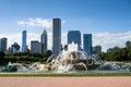 Fontana di buckingham in chicago Fotografie Stock