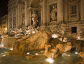 Fontana Di Trevi At Evening Royalty Free Stock Photography