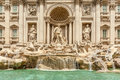 Fontana di trevi historic fountain in roma Stock Photography