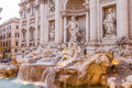 Fontana di trevi in roma italy Royalty Free Stock Photos