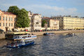 Fontanka canal in Saint-Petersburg Stock Photography