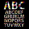 Fontes d'alphabet de couleur Photographie stock