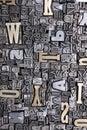 Fonts background Stock Photo