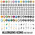 Food allergens icons pack