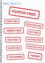 Food Allergy Rubber Stamps