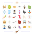 Food, animal, tool and other web icon in cartoon style. wedding, profession icons in set collection.