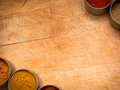 Food background cutting board spices Stock Image