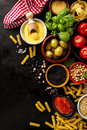 Food background Food Concept with Various Tasty Fresh Ingredient