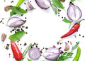 Food background, herbs and spices